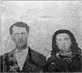Old Tintype of John and Sarah McIndoo